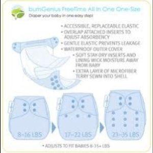 BumGenius Other - BumGenius Freetime All-in-One Diaper Mid-Century